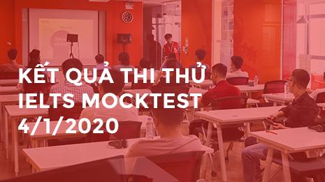 Kết quả thi thử ngày 4/1/2020 tại GLN Phạm Hùng